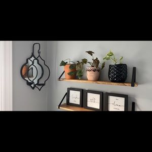 NEW - set of 2 - Wall accent mirror